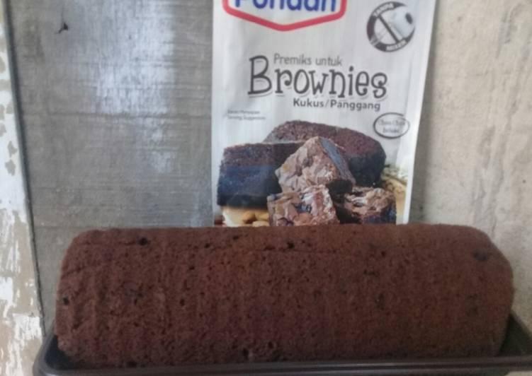 Resep Brownies panggang Pondan (instant)