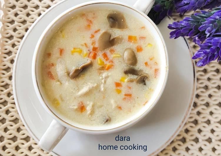 Resep Sup Krim Ayam Jamur