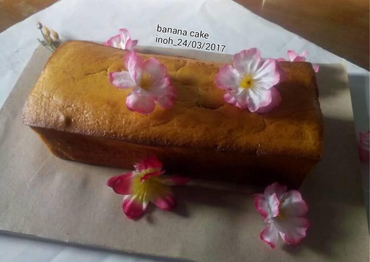Resep Banana cake (all in one method)