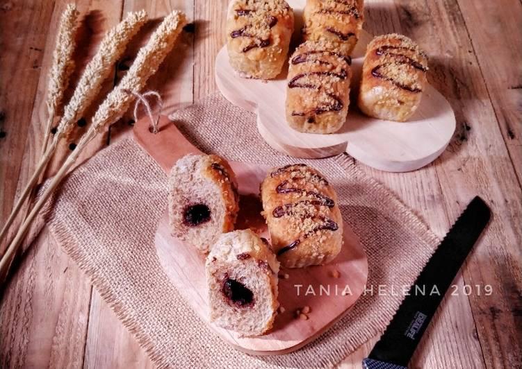 Resep Whole wheat Bread Choco Crumble