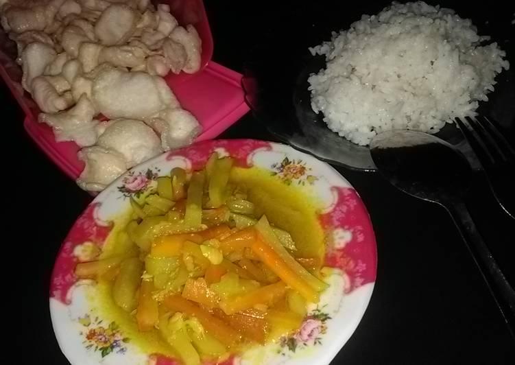 Resep Acar kuning wortel kentang