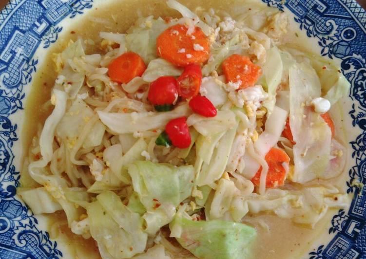Resep Mie Godog + sayuran, pedas
