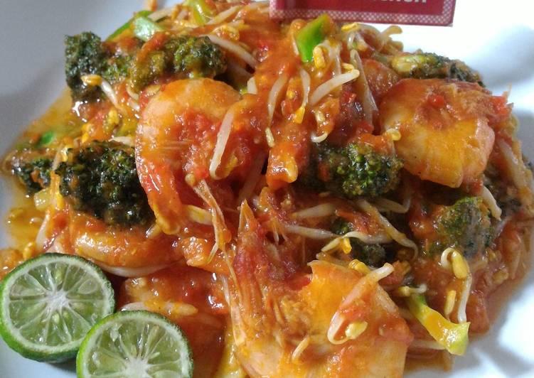 Resep Tumis Udang Brokoli Tauge (Diet Enak Diabetes)
