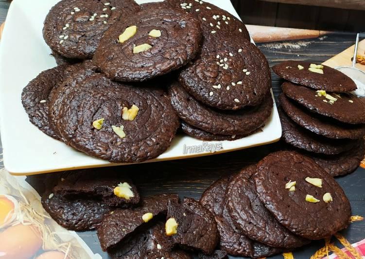 Resep Crunchy Brownies Cookies