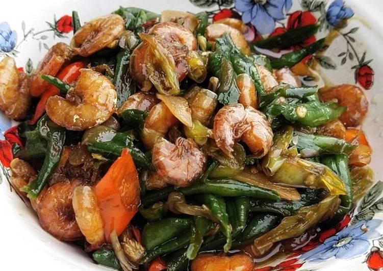 Resep Oseng udang kacang