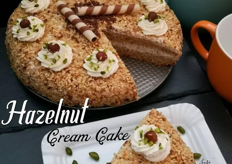 Resep Hazelnut Cream Cake