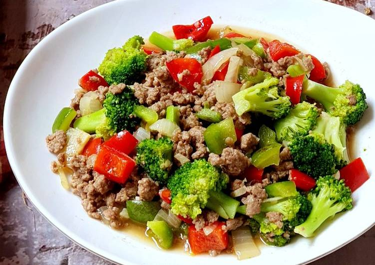 Resep Tumis brokoli daging cincang