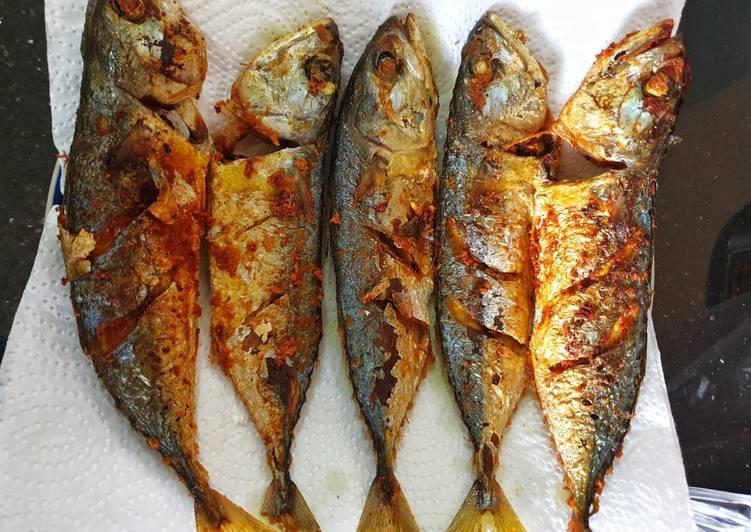 Resep Ikan Kembung Goreng Kuning / Kunyit