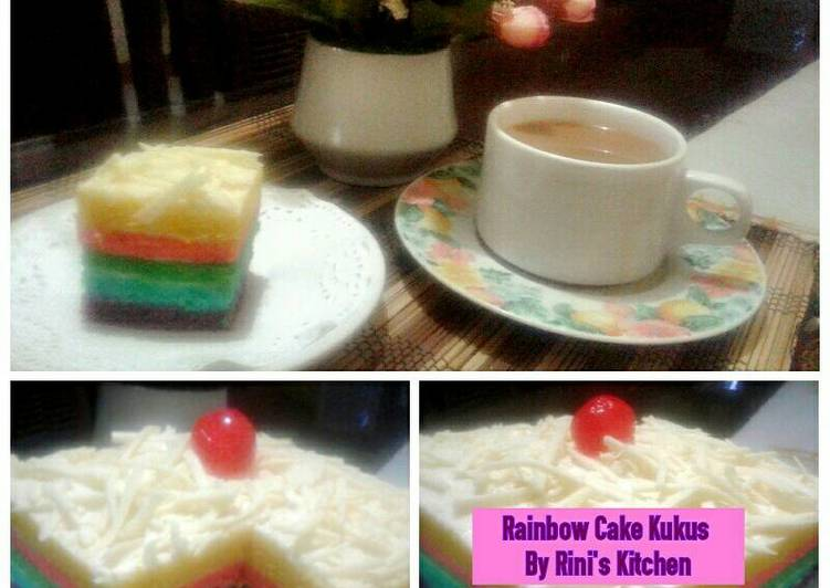 Resep Rainbow cake ny liem