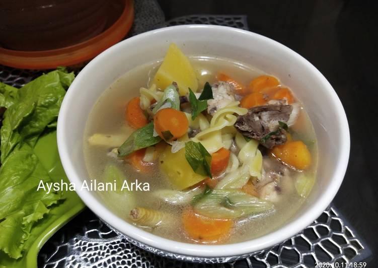 Resep Sop Ayam Makaroni Special