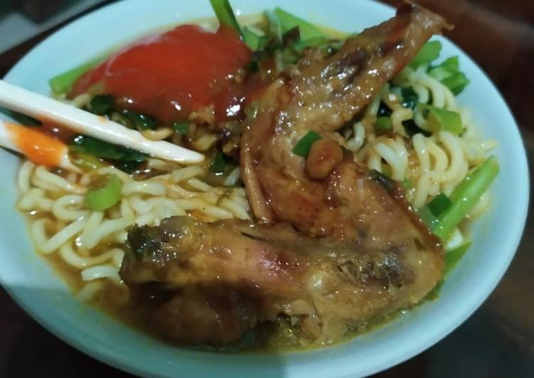 Resep Mie ayam sayap