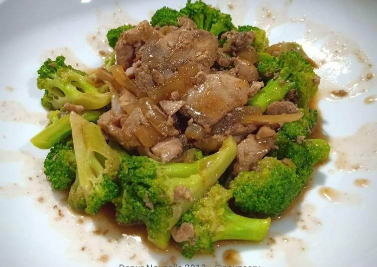 Resep Ca Brokoli Ikan Tuna