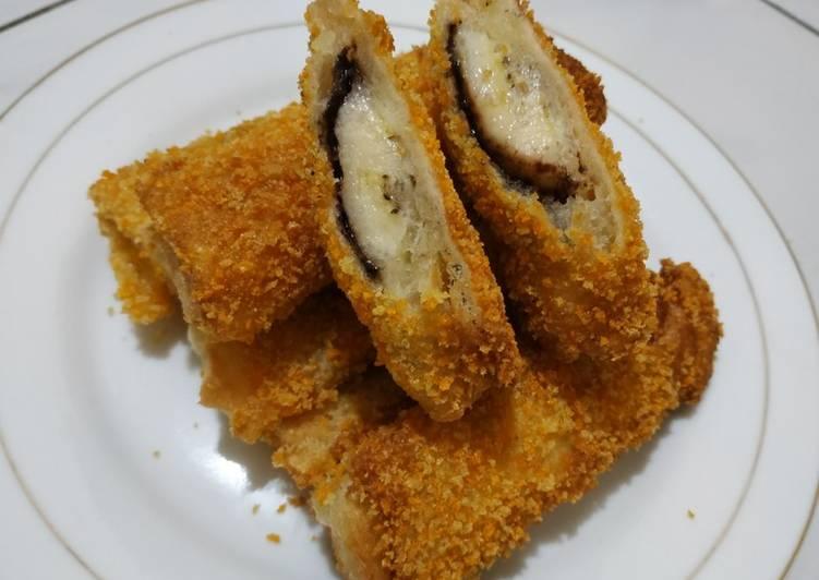 Resep Roti goreng piscok(pisang coklat)