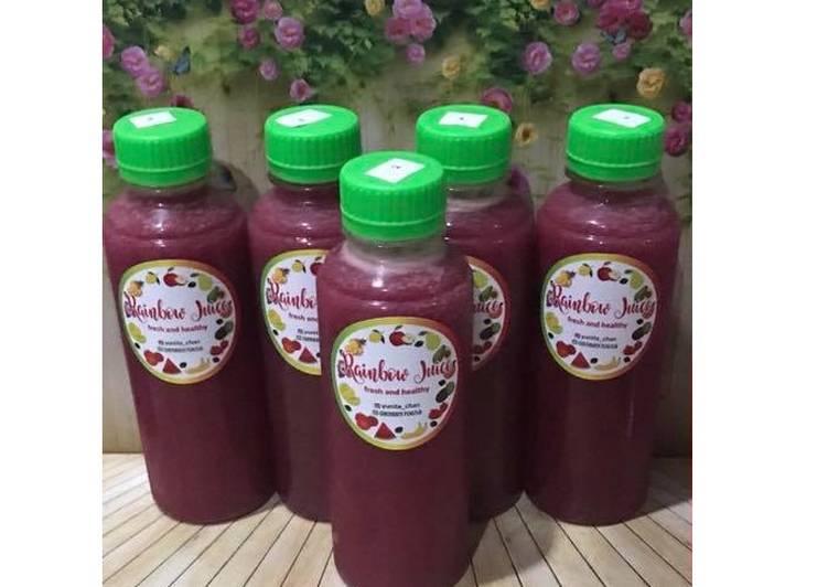 Resep Diet Juice Kiwi Purple Cabbage Watermelon Strawberry