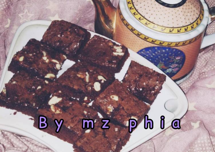 Resep Fudgy shiny brownies