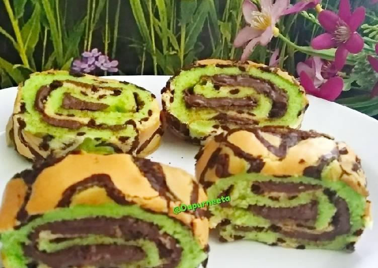 Resep Bolu gulung batik(bolu gulung ekonomis)