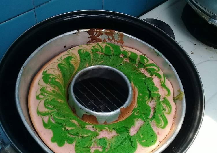 Resep Water pink cake