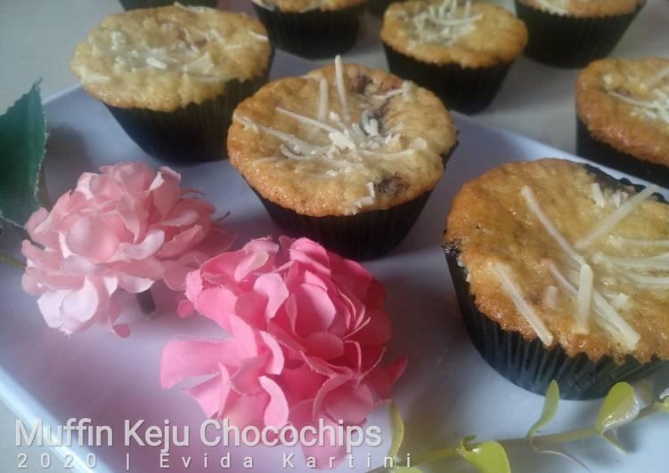 Resep Muffin Keju Chocochips (Rata )
