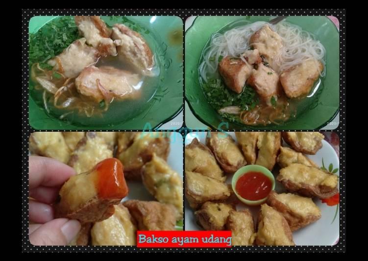 Resep Tahu bakso ayam udang