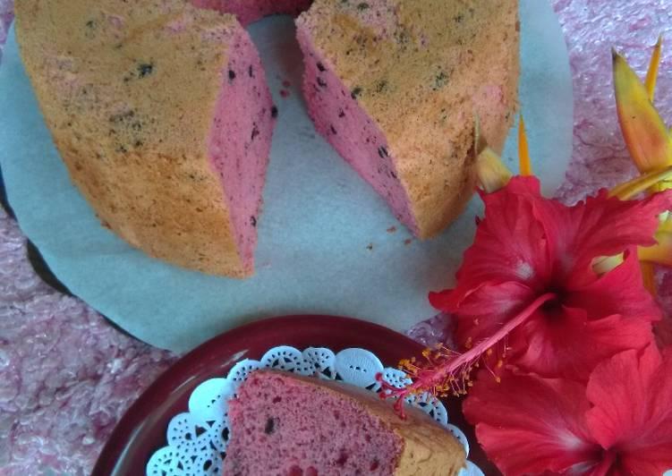 Resep Ciffon Stroberry Oreo Cake