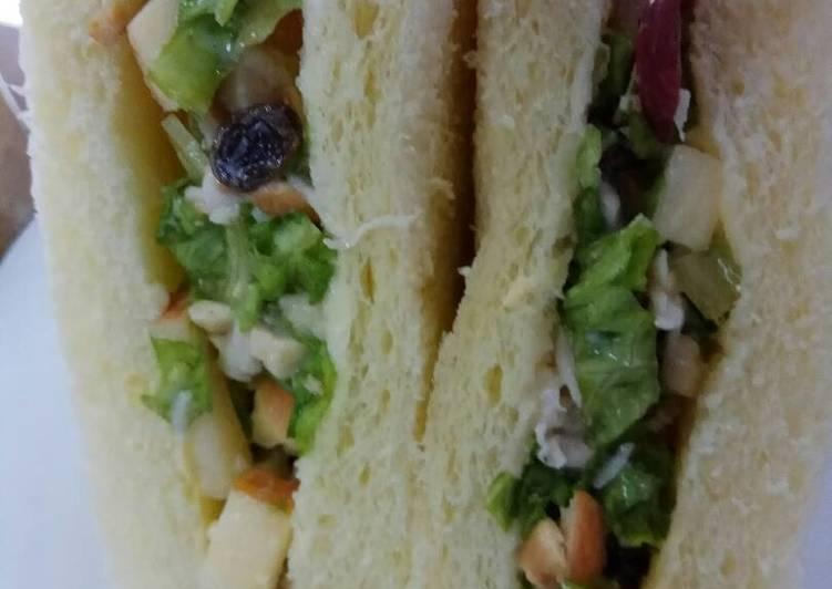 Resep Waldorf chicken sandwich
