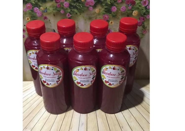 Resep Diet Juice Beetroot Apple Kiwi Purple Cabbage Passion fruit
