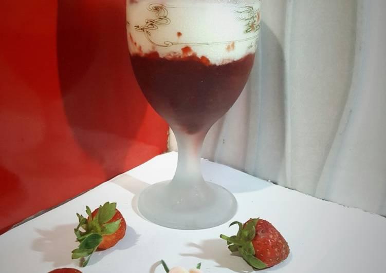 Resep Korean Fresh Strawberry Milk