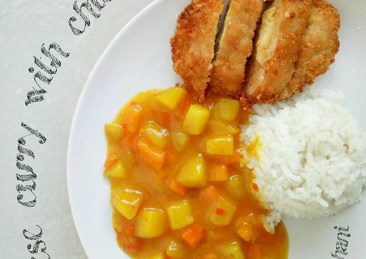 Resep Japanese curry with chicken katsu