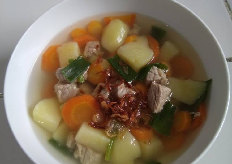 Resep Sop sayur daging sapi simple