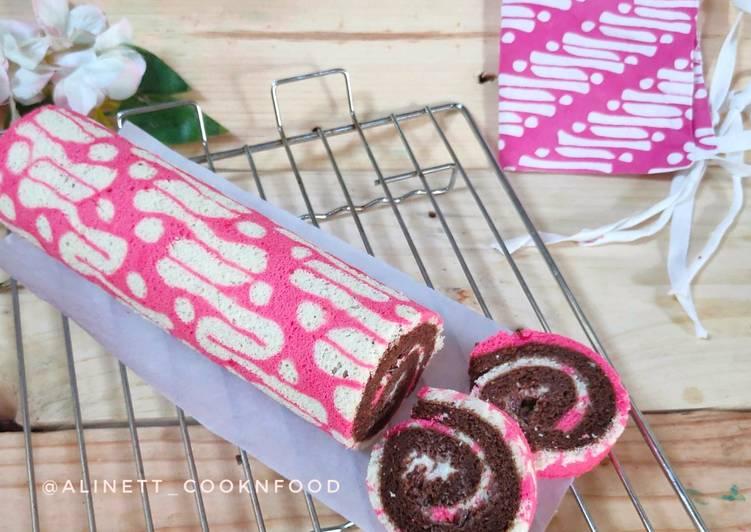 Resep Batik Roll Cake Kukus
