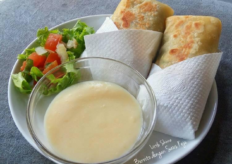 Resep Burrito dengan Saus Keju