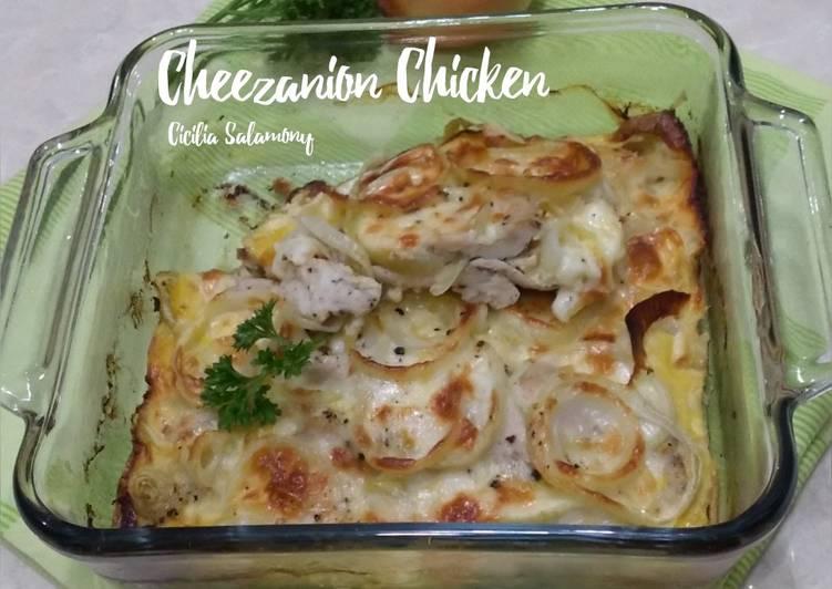 Resep Cheezanion Chicken