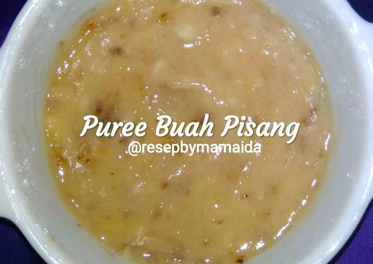 Resep Snack MP-ASI Puree Buah Pisang