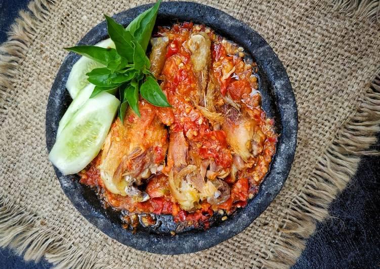 Resep Ayam penyet sambel terasi