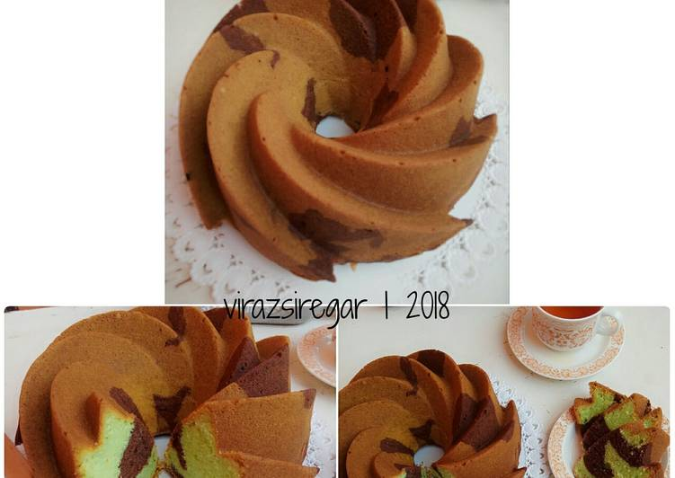 Resep Marble Butter cake