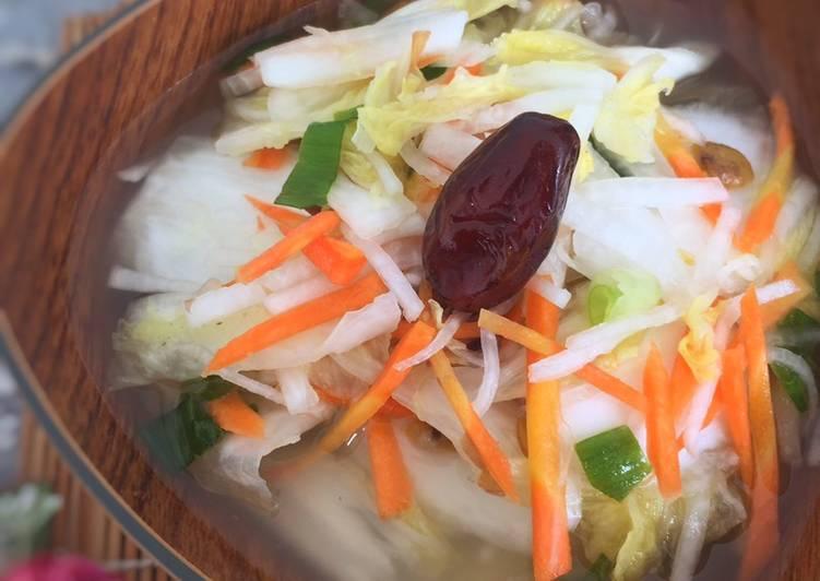 Resep Baek-kimchi - White Kimchi