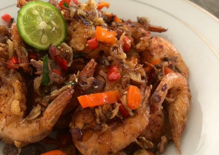 Resep Udang sambal embe