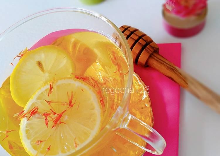 Resep Healthy saffron tea