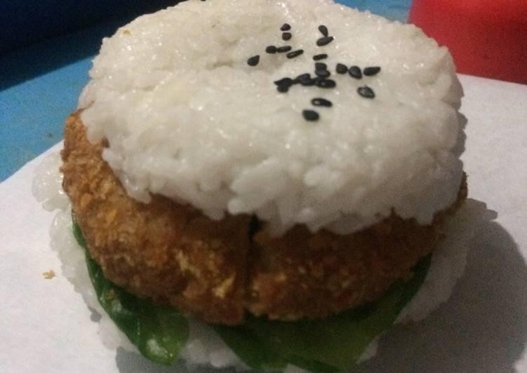 Resep Tempe rice burger