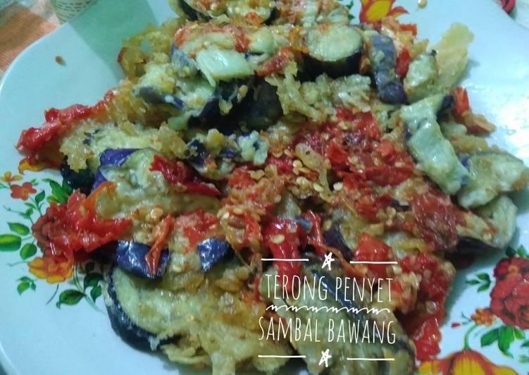 Resep Terong penyet sambal bawang
