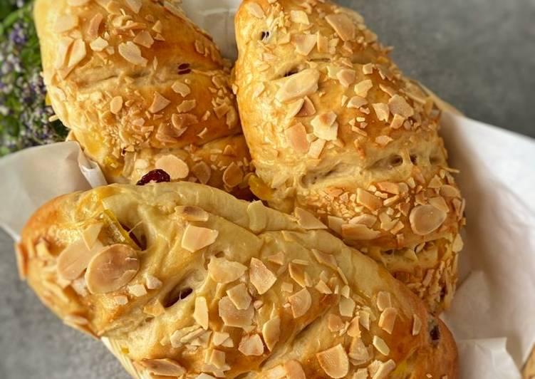 Resep Mango Raspberry Bread with almond