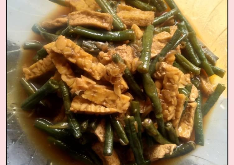 Resep Oseng tahu tempe, kacang panjang
