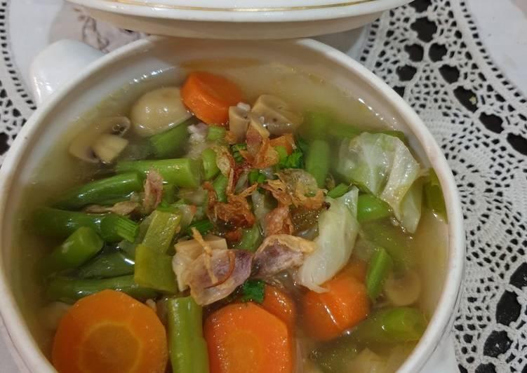Resep Sup Ayam Jamur Segarr