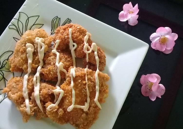Resep Ayam goreng balut tepung panir