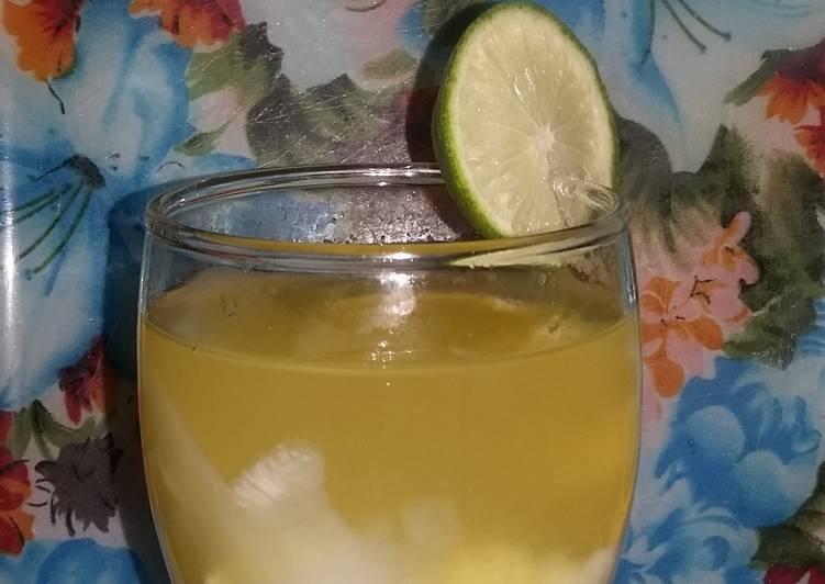 Resep Es jeruk kelapa