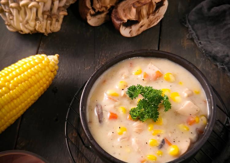 Resep Cream Soup Ayam Jamur