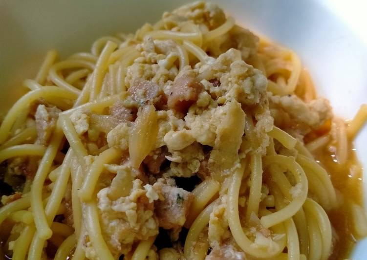 Resep Bakmi jowo Spaghetti