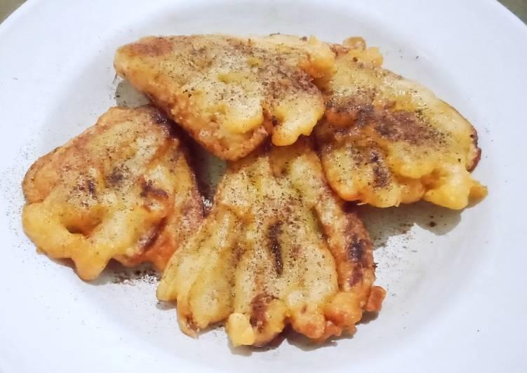 Resep Fried banana with cinnamon