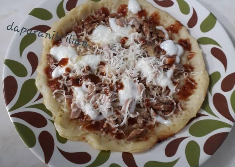 Resep Pizza roti cane pemula enyakk