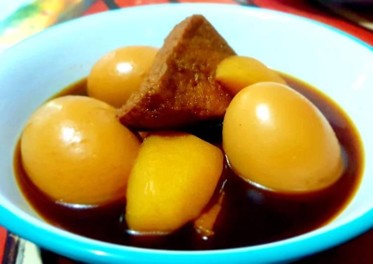 Resep Semur Telur, Tahu & Kentang #Pr_anekasemur
